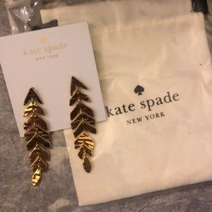 Kate spade leaf earrings